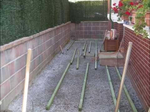 madera de artista como poner un suelo de madera en el jardin