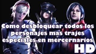 Resident Evil 6: Todos los desbloqueables en mercenarios