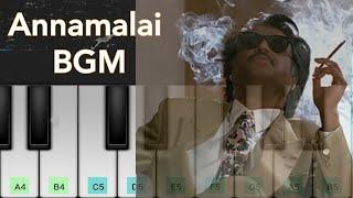 Annamalai BGM | Superstar Rajinikanth | Deva | Piano Cover | ** NOTES ** |