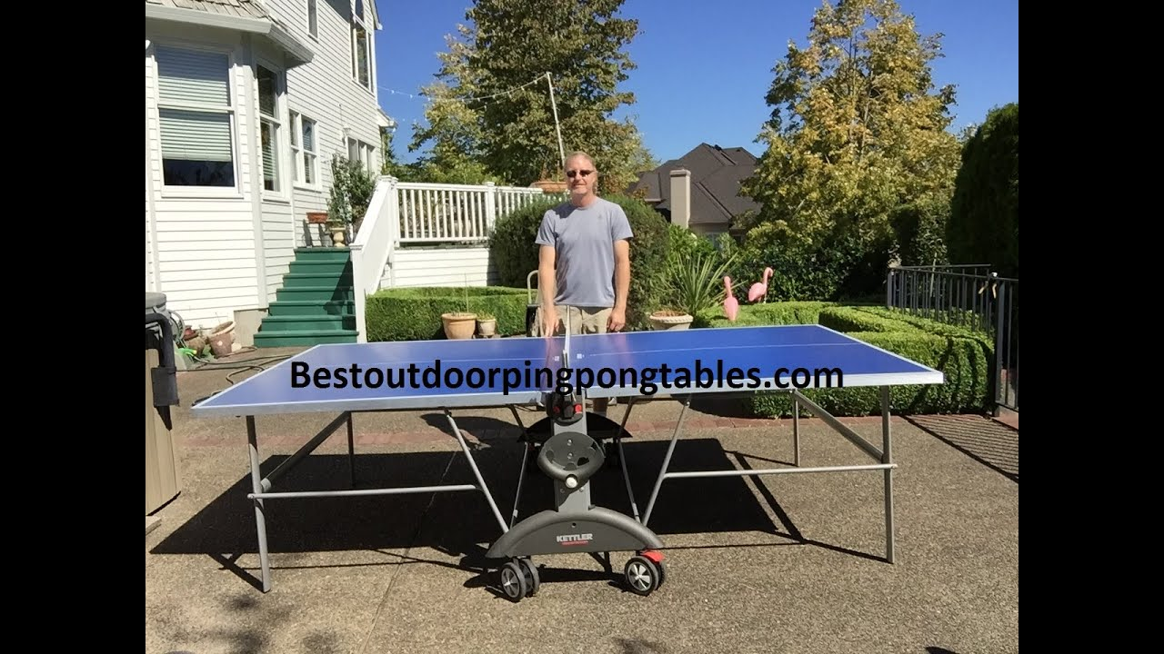 Kettler Topstar Weatherproof Table   Additional Features   YouTube