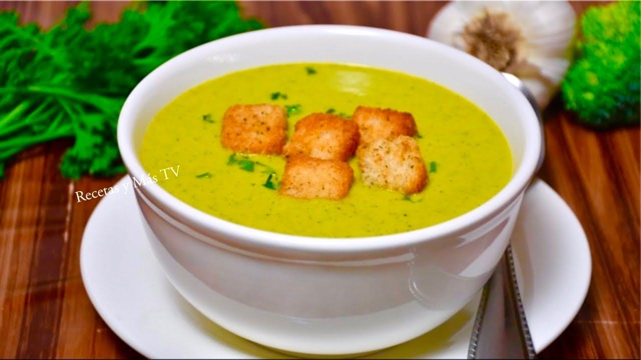 Crema de Brócoli riquisíma y nutritiva