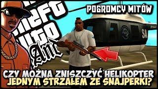 Czy można zniszczyć helikopter jednym strzałem? - CJ w roli Pogromcy Mitów w GTA San Andreas! #09