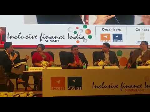 Sabya speaking at Inclusive Finance India Summit, Delhi