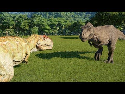 Giganotosaurus(Modified) VS T-Rex, I-Rex, I-Raptor, Spinosaurus and Carnotaurus