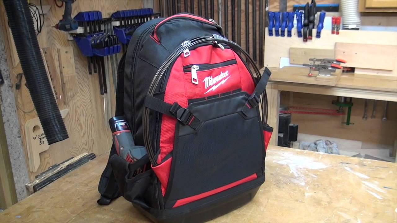 Milwaukee Job Site Backpack 48-22-8200 - YouTube 0c45616eee8bb