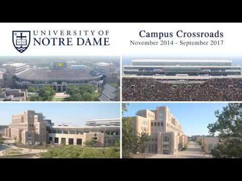 University of Notre Dame Campus Crossroads Construction Time-Lapse