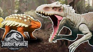 Indominus Rex Vs. Ankylosaurus (Sweded) | Jurassic World | Mattel Action!