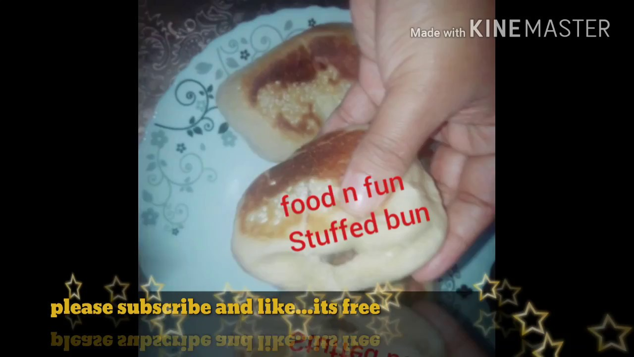 No oven,Stuffed bun with custard cream in malayalam - YouTube
