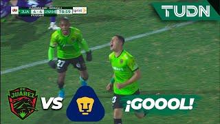 ¡El partido de la jornada! Gol de Juárez | FC Juárez 4 - 4 Pumas | Liga Mx CL 2020 J2 | TUDN