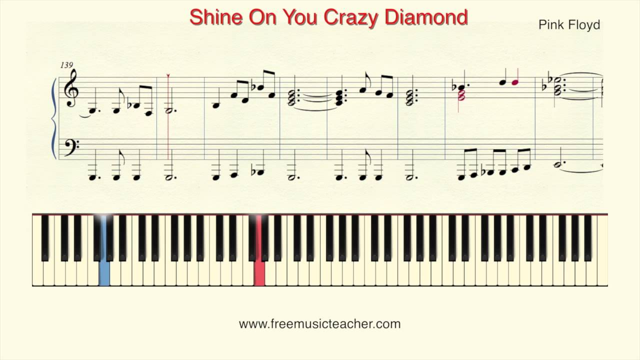 how to play piano pink floyd 39 shine on you crazy diamond piano tutorial by ramin yousefi youtube. Black Bedroom Furniture Sets. Home Design Ideas