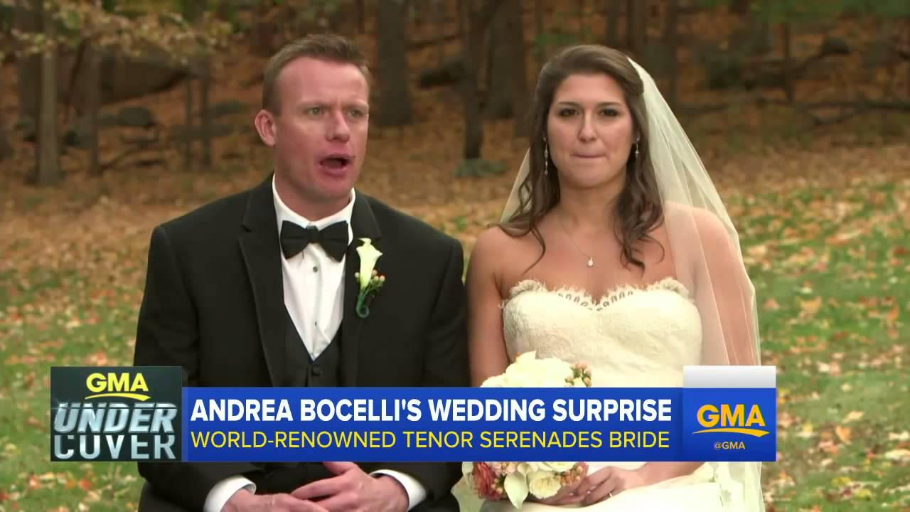 Andrea bocelli surprise wedding serenade youtube andrea bocelli surprise wedding serenade junglespirit Gallery