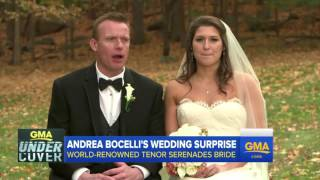 Andrea Bocelli Surprise Wedding Serenade