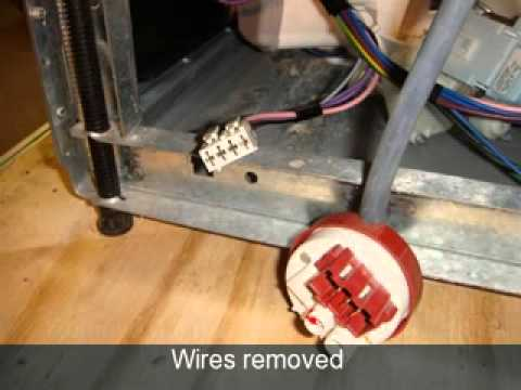 How to replace a pressure switch on a dishwasher Ariston, Hotpoint, Indesit  YouTube