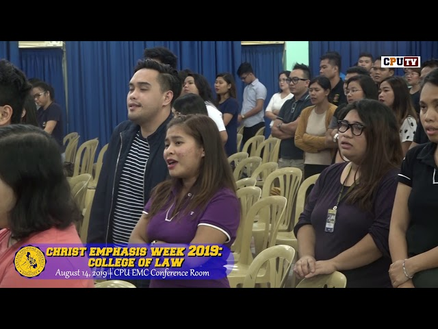 Christ Emphasis Week: College of Law 2019 (1st Semester)