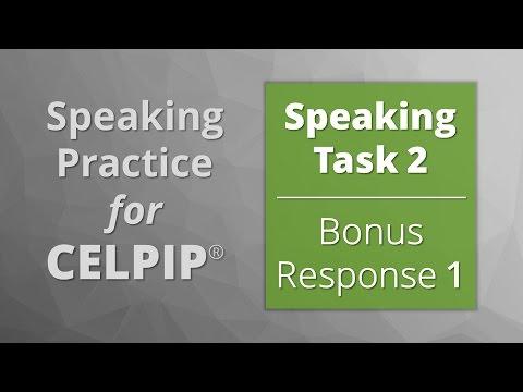 Speaking for CELPIP® – Task 2 – Bonus Response 1