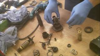 how to assemble Makita hr2450 rotary hammer drill armature, cylinder gears