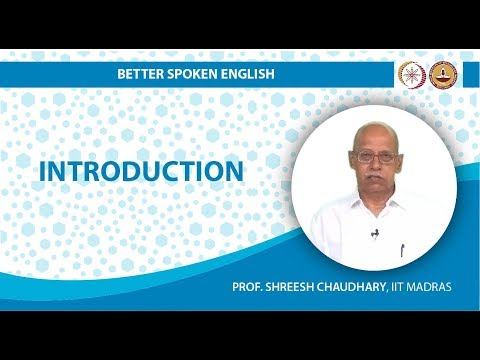 Better Spoken English online course video lectures by IIT Madras