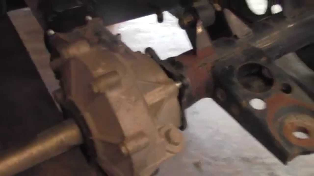 how to remove replace rear differential on kawasaki prairie 400 4x4 youtube [ 1280 x 720 Pixel ]