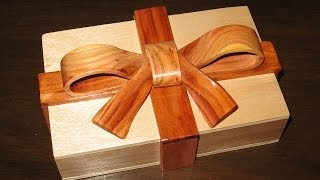 How to make a Scroll Saw Ribbon Box - woodworking project