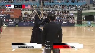 17th World Kendo Championships Men's TEAM MATCH 6ch Serbia vs United States of America