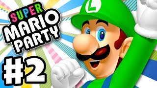 Super Mario Party - Gameplay Walkthrough Part 2 - King Bob-omb's Powderkeg Mine! (Nintendo Switch)