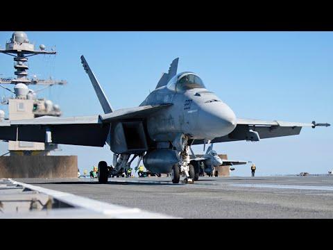⚡ Новый авианосец США 'Джеральд Р. Форд' / Полётные операции