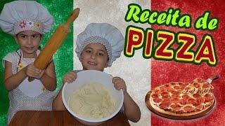 RECEITA DE CRIANÇA: MASSA DE PIZZA