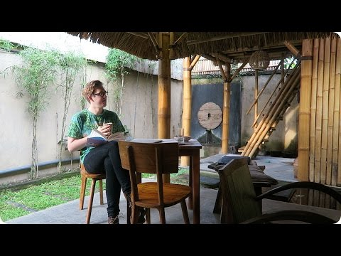 My Bamboo Hut in Ubud, Bali, Indonesia! | Evan Edinger Travel