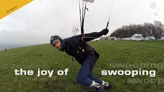 The Joy Of Swooping: Paragliding in Strong Wind