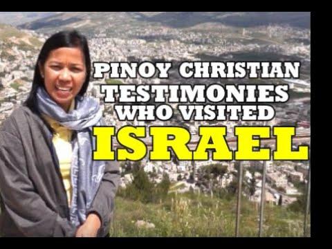 PINOY PILGRIMS IN  ISRAEL TESTIMONIES 2019