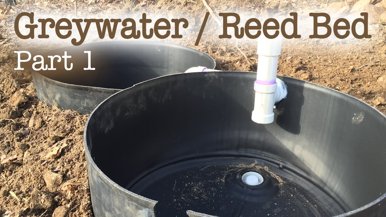 Greywater Reed Bed Filtration System Part 1 Youtube