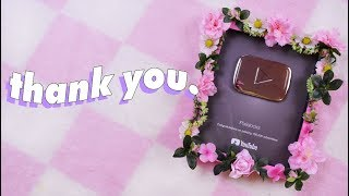 ♡ SILVER PLAYBUTTON UNBOXING (and making it cute) ♡ thumbnail