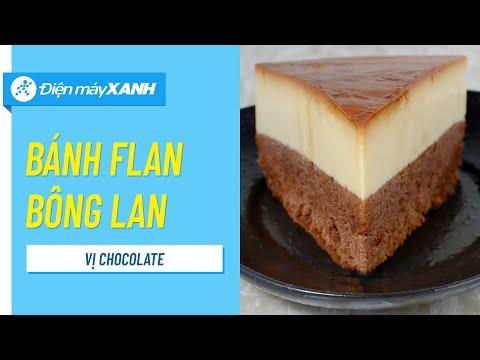 Cách làm bánh Flan bông lan chocolate - Gateau flan