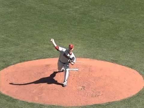 RHP Barry Enright pitching mechanics