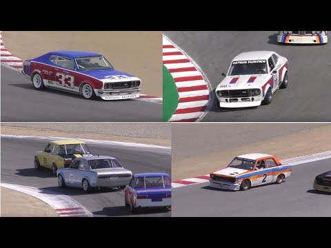 2018 Monterey Reunion Best Of Datsun 710 610 And 510 SSS Best L20 Sound BRE TransAm 1600