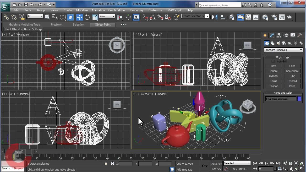 Video 3 herramientas de selecci n y manipulaci n de for Sillas para 3d max