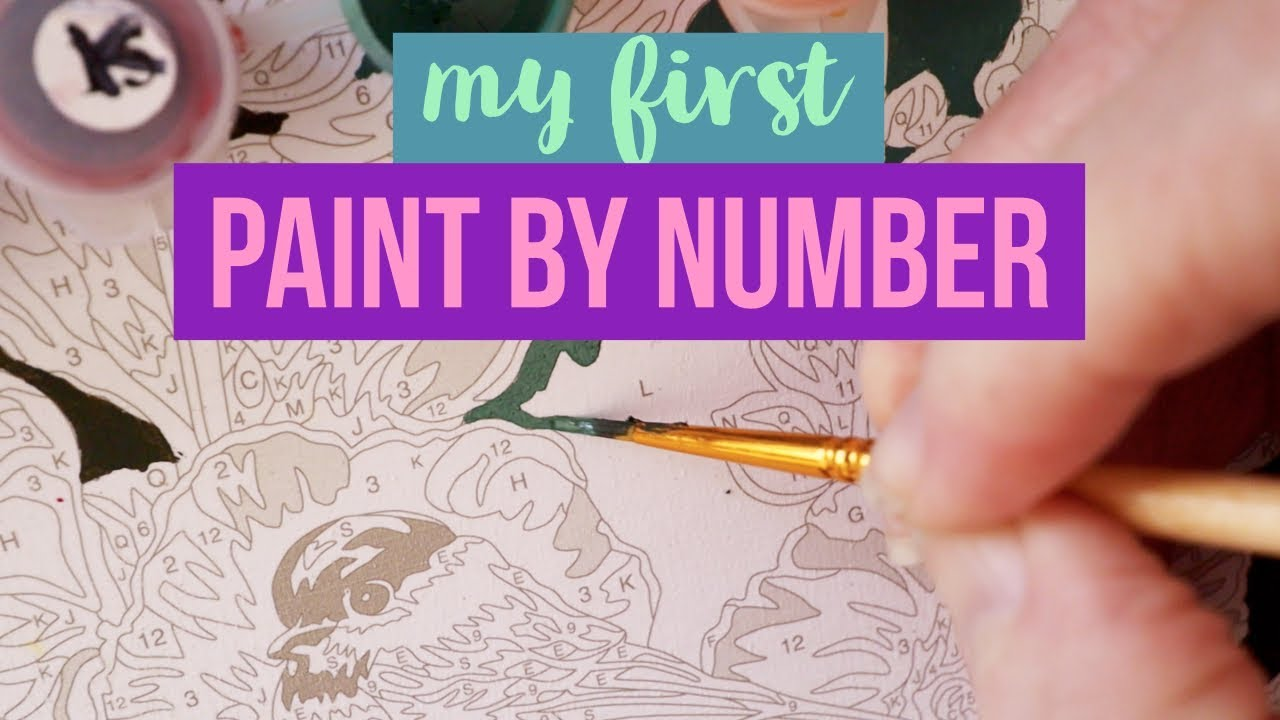 Paint By Numbers - Hollyhock Gate Part 1 - YouTube