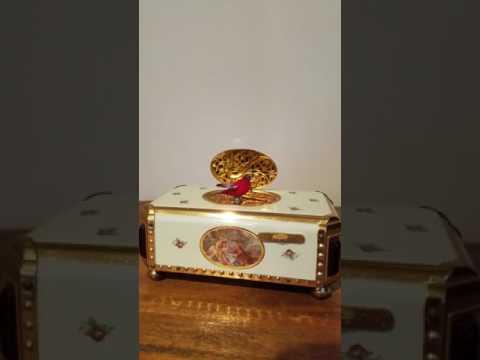 Vintage Singing Bird Music Box