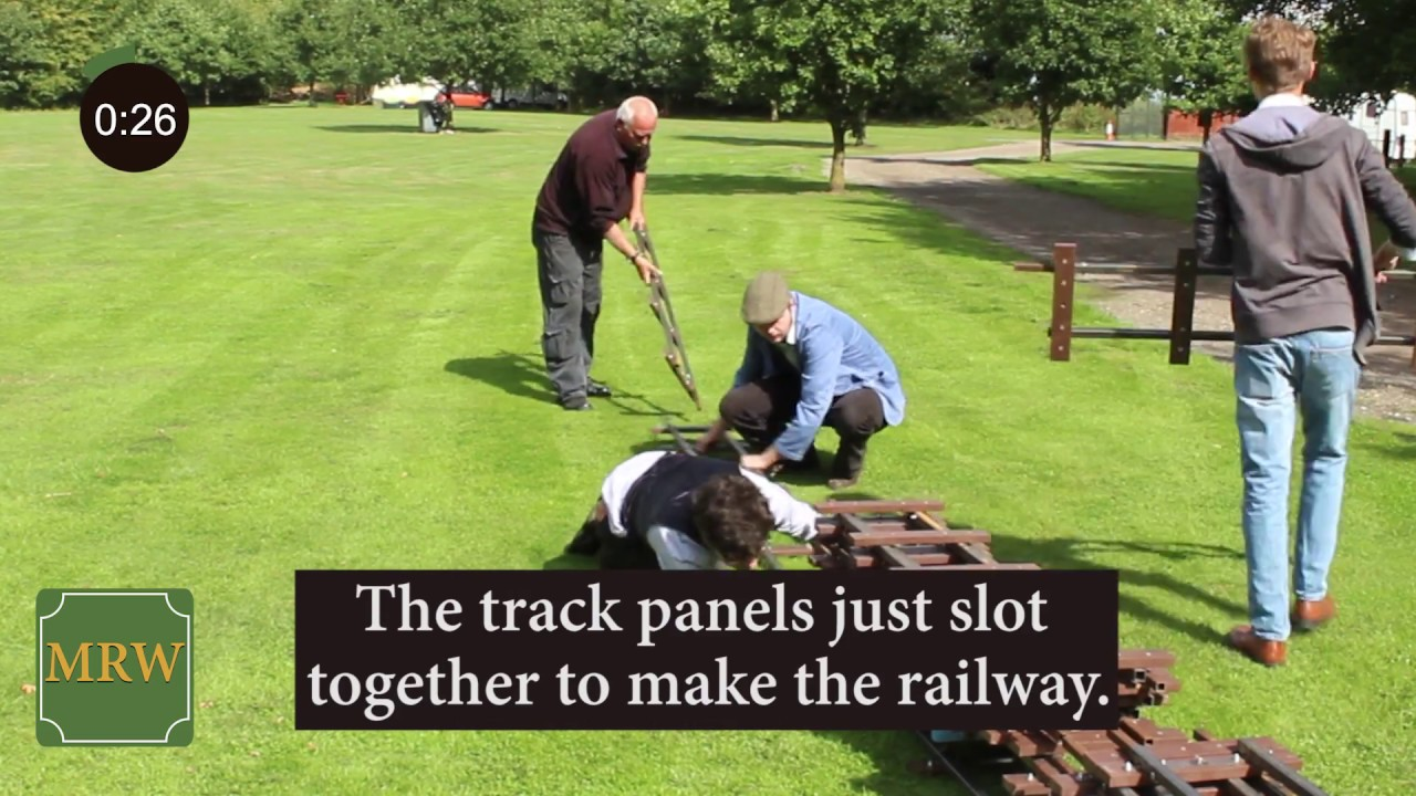 Build Your Own Miniature Railway In Just 3 Minutes
