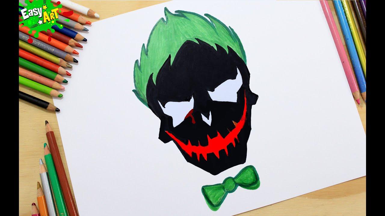 Como Dibujar El Logo Del Joker How To Draw Logo Joker Youtube