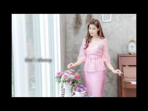 ชุดเดรสสวยหรูสีชมพู ใส่ออกงาน ไปงานแต่งงาน