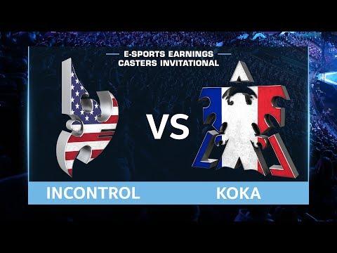 StarCraft 2 - iNcontroL vs. Koka (PvT) - EsportsEarnings Casters Invitational - Group A Match #1
