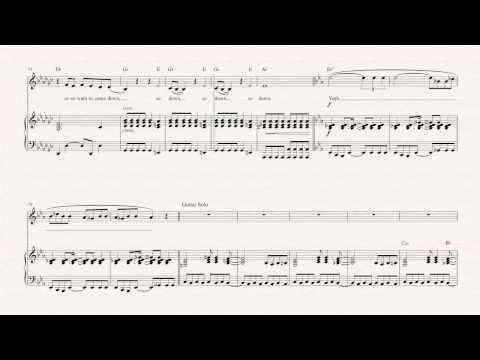 Violin  - Welcome to the Jungle - Guns N' Roses -  Sheet Music, Chords, & Vocals