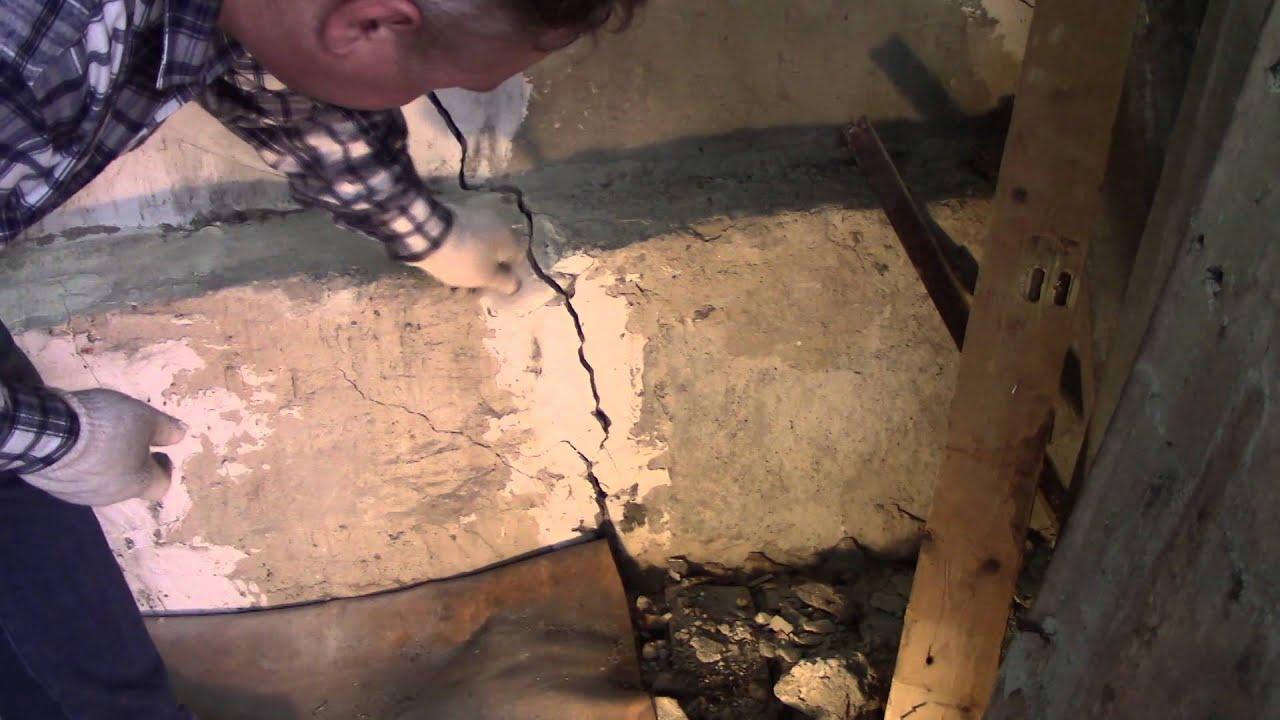 Заделка трещины в стене гаража своими силами