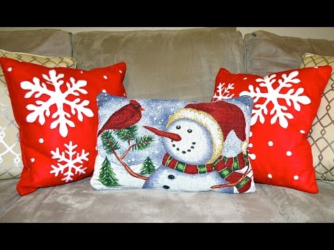 DOLLAR TREE DIY CHRISTMAS HOME DECOR! PILLOW AND PICTURE FRAME! UNDER $5!