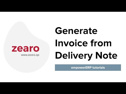 How to generate Invoice from Delivery Note