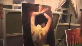 Фигура Ню со спины МК по живописи Игорь Сахаров
