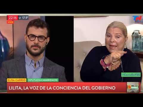 """Elisa Carrio con Diego Leuco en """"YA SOMOS GRANDES"""" por TN 10/05/18"""