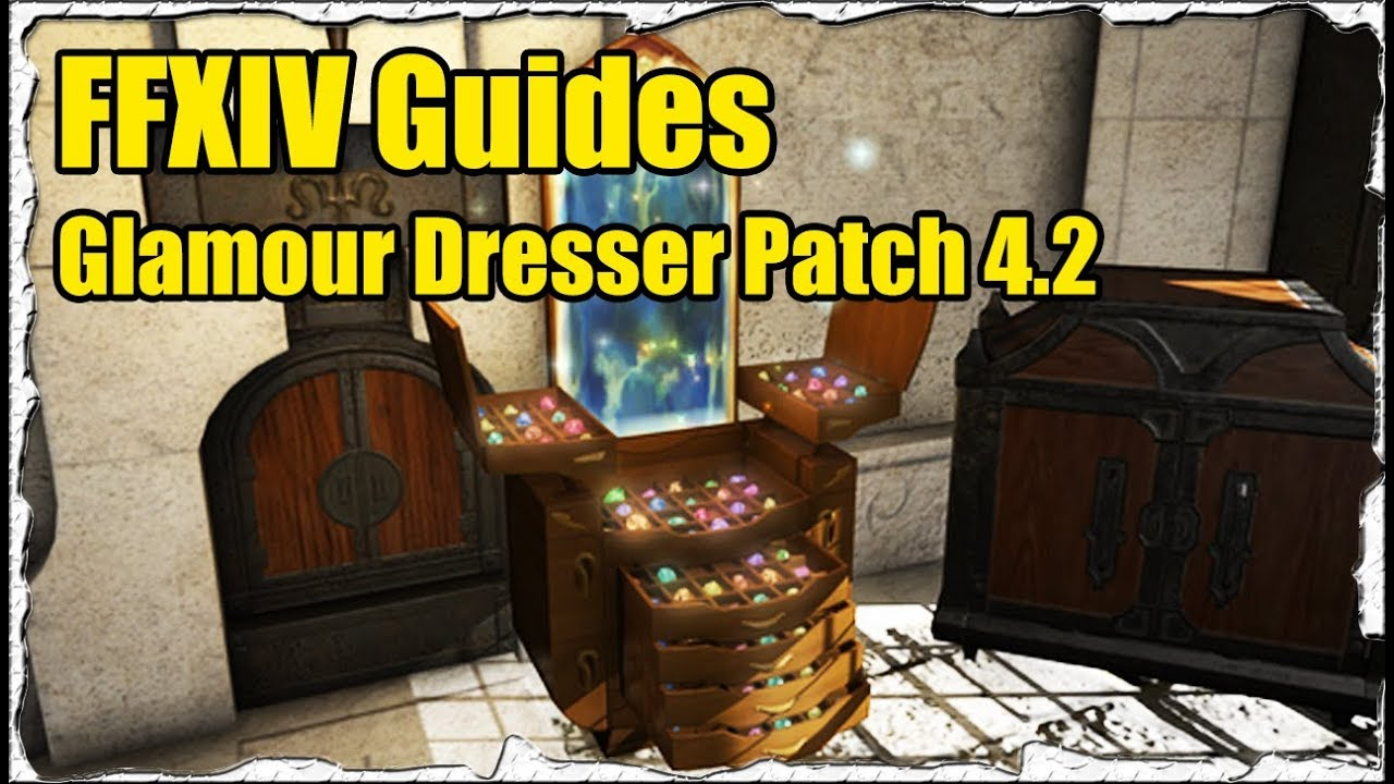 ffxiv how to use glamour dresser guide patch 4 2 stormblood youtube