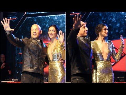 Crowd Interaction Of Vin Diesel And Deepika Padukone At Phoenix Mall